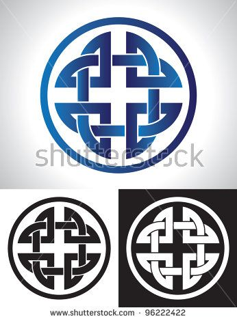 346x470 Quaternary Celtic Knot Vector Illustration. Fonts Ornaments