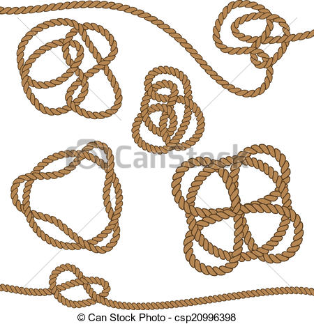 450x465 Rope With Celtic Knot. Set, Rope With Celtic Knot, Eps8