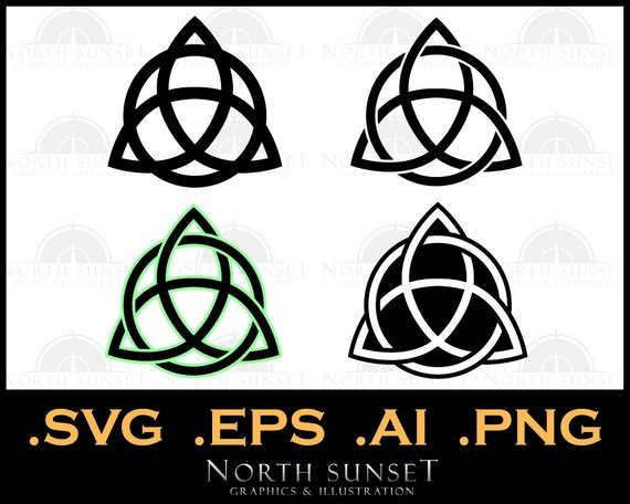 570x456 Trinity Knot Vector Illustration. Celtic Trinity Viking Etsy