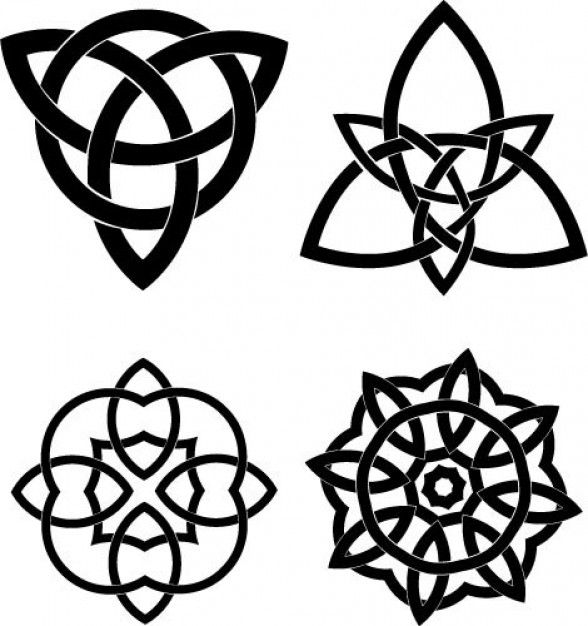 588x626 Celtic Knots Vector Set Celtic Knot In 2018 Celtic