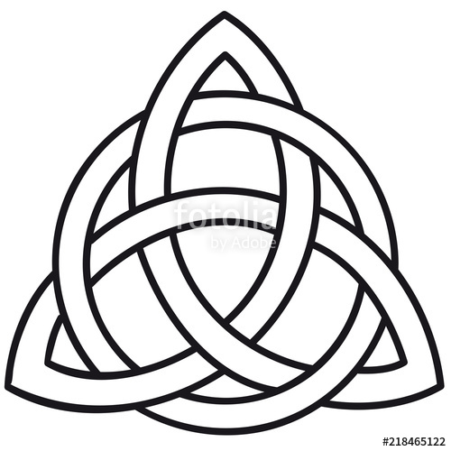 500x500 Celtic Knot Triskele Template Silhouette Stock Image And Royalty