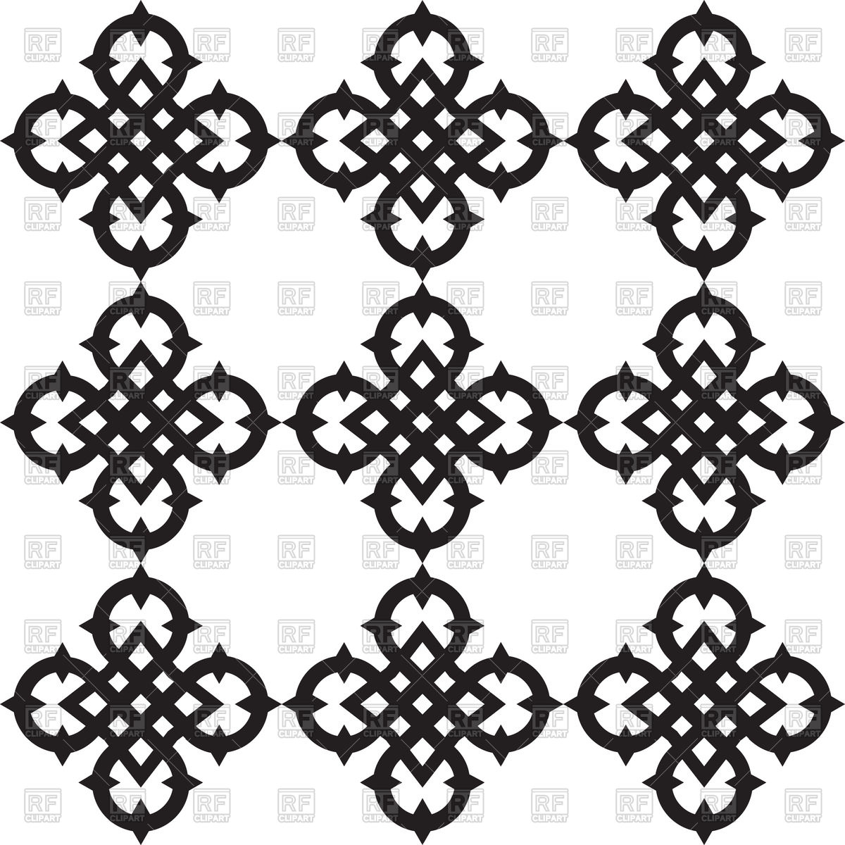 1200x1200 Celtic Knots Pattern Vector Image Vector Artwork Of Backgrounds