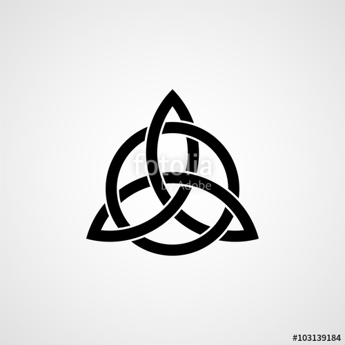 500x500 Celtic Trinity Knot. Vector Stock Image And Royalty Free Vector