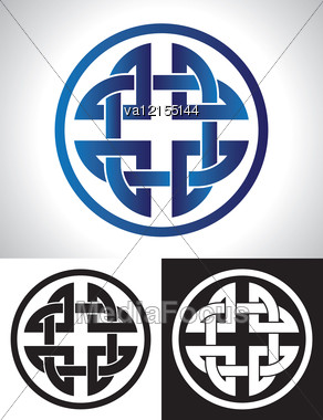 292x380 Quaternary Celtic Knot Vector Illustration