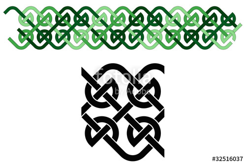 500x334 Celtic Knot Border Stock Image And Royalty Free Vector Files On
