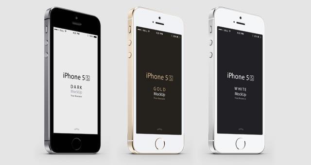 640x340 Free Set Of Iphone 5s Vector Mockups