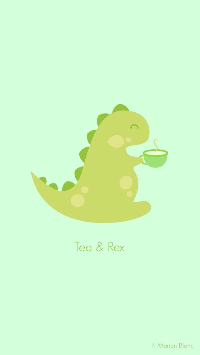640x1136 Phone Amp Celular Wallpaper Tea Rex Vector Illustration