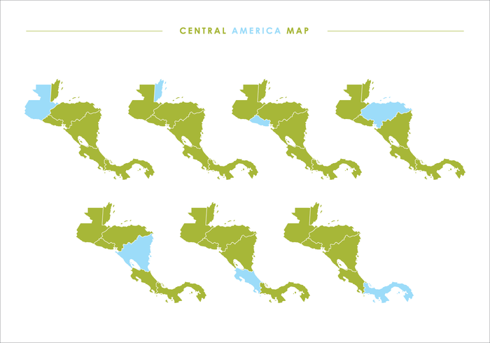 Central America Map Vector at GetDrawings.com | Free for ...