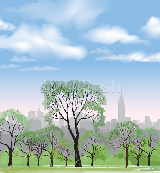 554x600 Central Park Stock Vectors, Illustrations And Cliparts Stockfresh