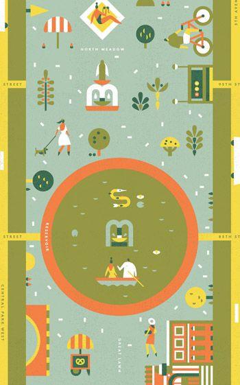 350x561 Central Park Lotta Nieminen Illustration Central