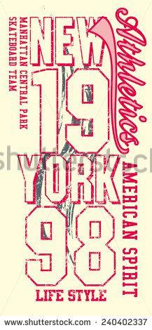 217x470 New York City Graphic Design Vector Art