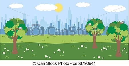 450x232 Central Park Clipart