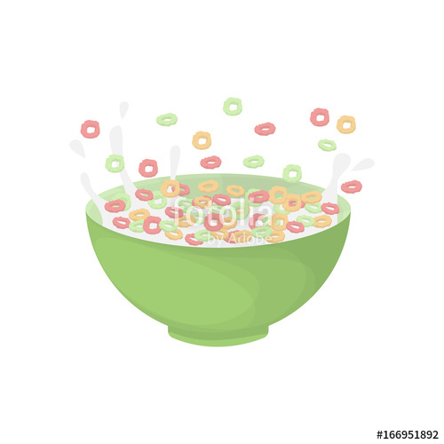 500x500 Breakfast Cereal Bowl. Stock Image And Royalty Free Vector Files