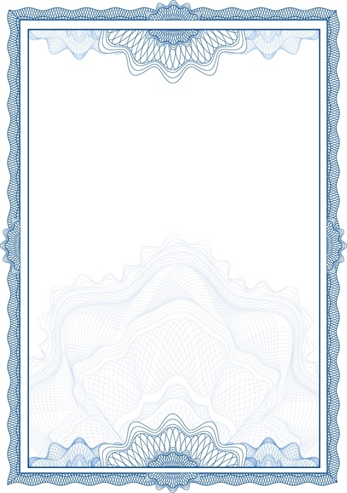 500x709 Commonly Certificate Cover Vector Template 02 Vector Cover Free