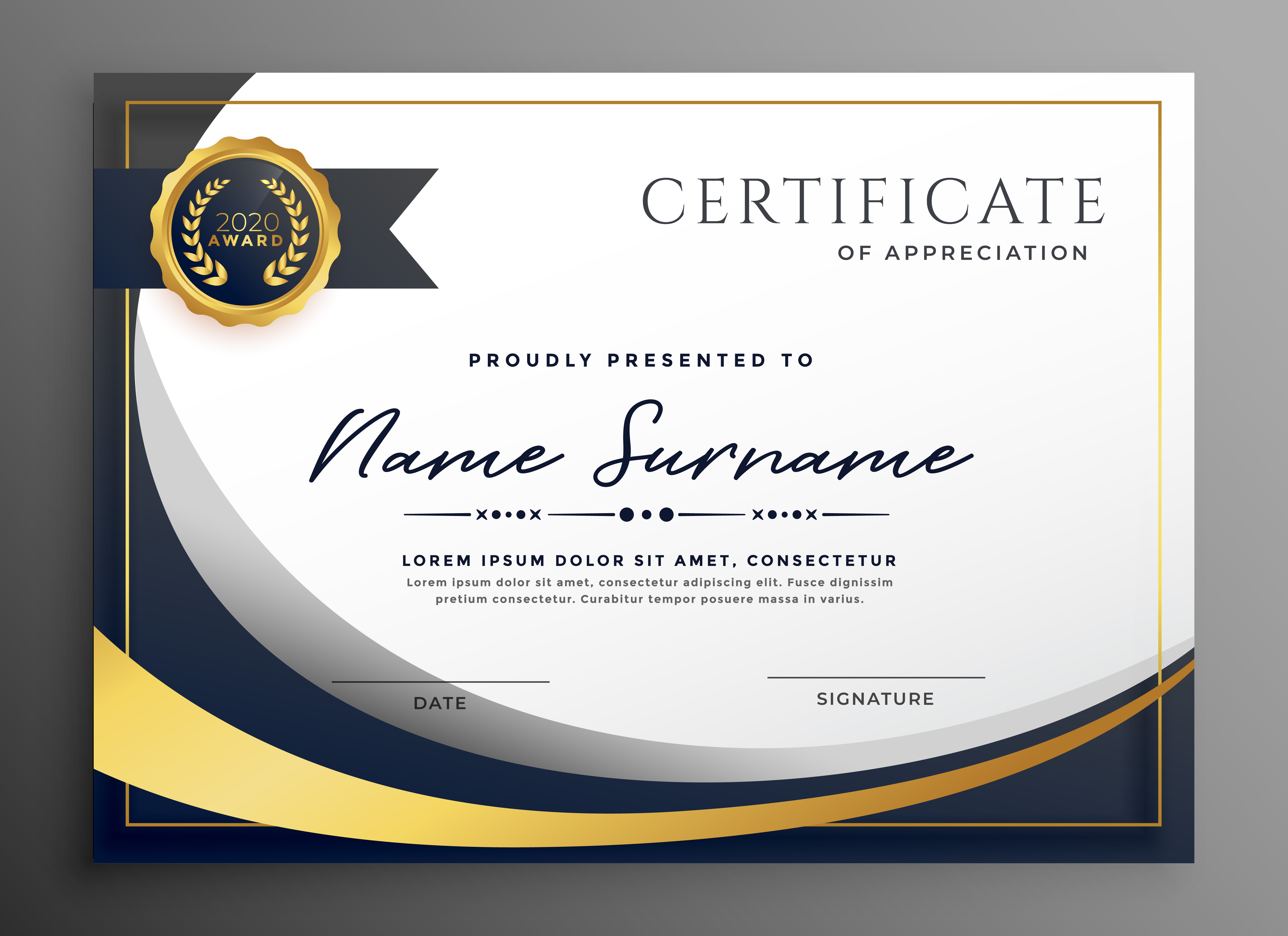 Certificate Background Vector At Getdrawings Com Free For