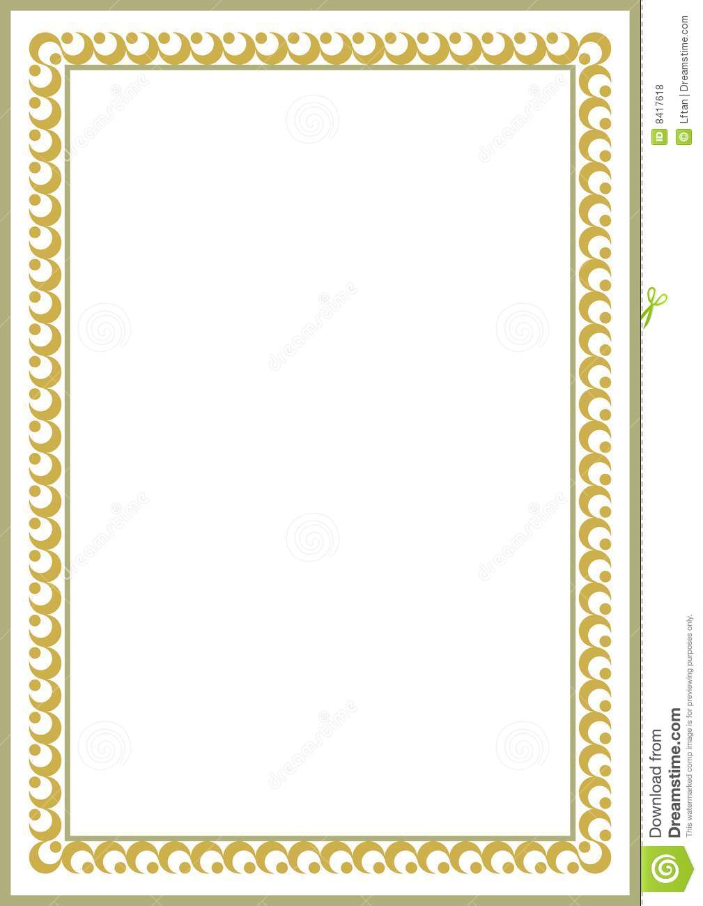 Certificate Border Vector Free