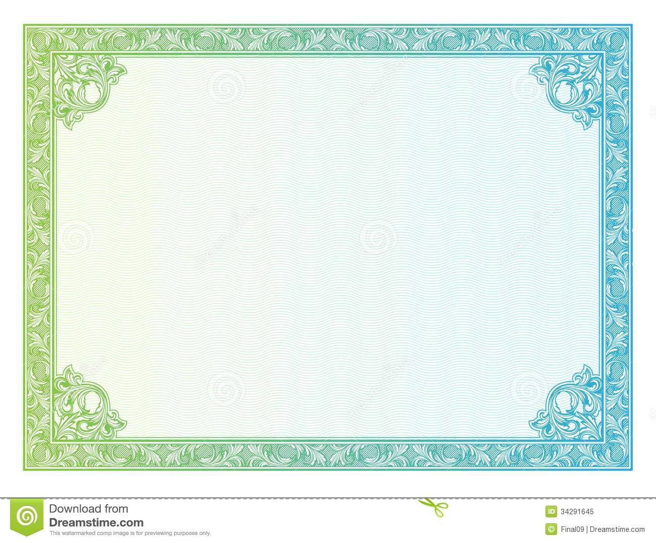 Certificate Border Vector Free At Getdrawings Free For