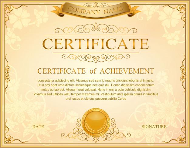 626x487 Certificate Frame Vector Floral Design Vector Premium Download