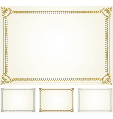 380x400 18 Certificate Frames Vector Images