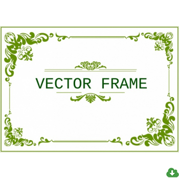 350x350 Free Vector Frame Vector Document Frame Template Classical