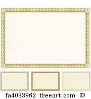 180x195 Free Art Print Of Vector Certificate Frame. Frame Illustration