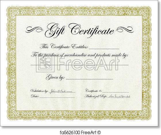 560x470 Free Art Print Of Vector Gift Certificate Frame. Vector Ornate