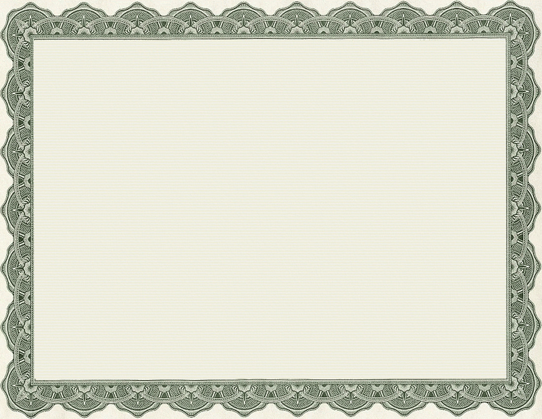1100x850 Gift Certificate Frame Clipart