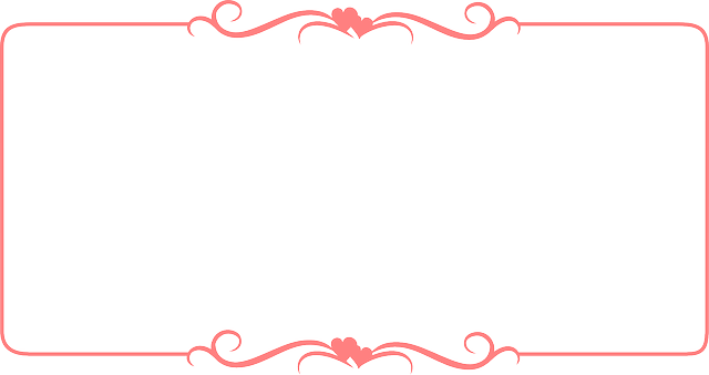 640x339 Red Certificate Frame Vector With Hearted Ribbon Free Psd,vector