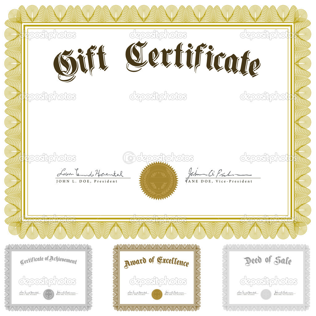 1024x1024 Vector Certificate And Awards Frame Set