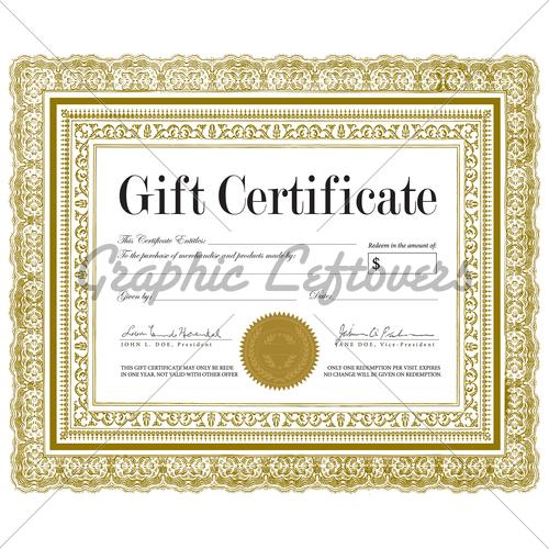 500x500 Vector Ornate Certificate Frame Gl Stock Images