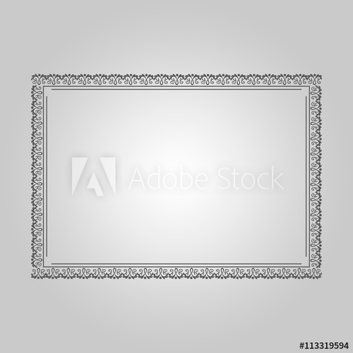 500x500 Certificate Frame Vector Design