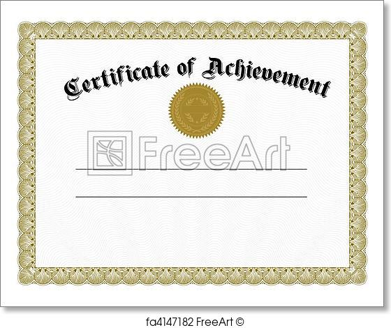 560x470 Free Art Print Of Vector Gold Certificate And Seal. Vector