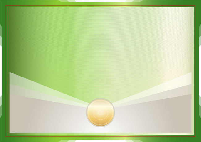650x460 Green Certificate Frame Border Background Vector Background