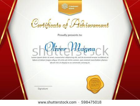 450x340 Certificate Appreciation Seal Badge Template Red Stock Vector Of
