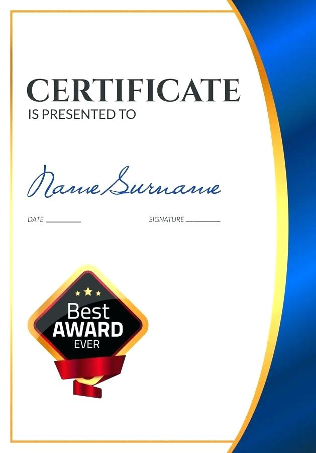 629x900 Certificate Of Completion Award Template Vector Premium Download