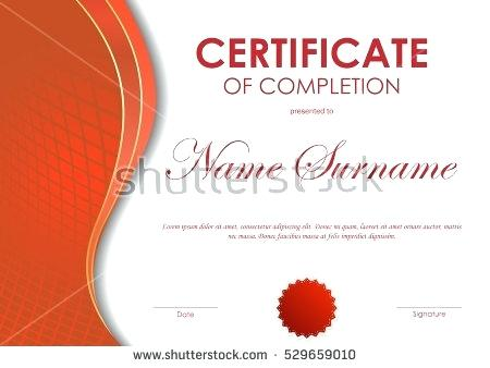 450x338 Certificate Of Completion Template With Red Digital Dynamic Grid