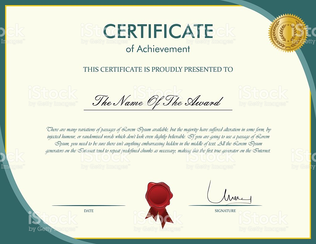 Certificate Template Vector at GetDrawings com | Free for