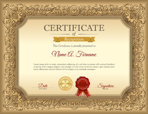 certificate template vector at getdrawings com free for personal