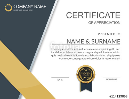 Certificate Vector At Free For Personal Use