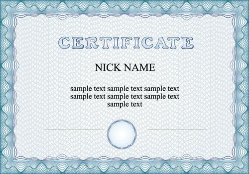500x351 Commonly Certificate Cover Vector Template 01 Free Download