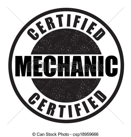 450x470 Certified Mechanic Stamp. Certified Mechanic Grunge Rubber Stamp