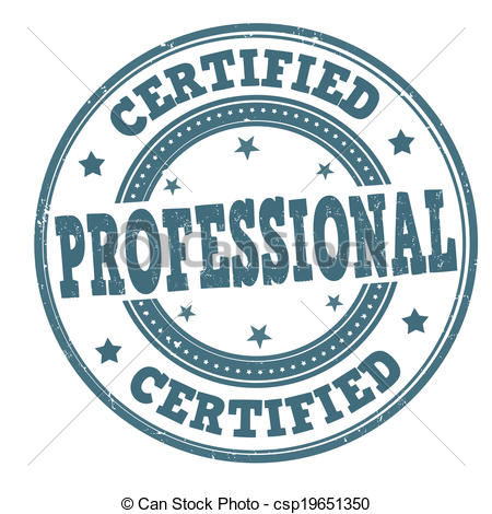 450x470 Certified Professional Stamp. Certified Professional Grunge Rubber