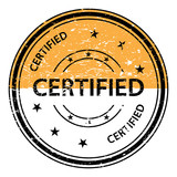 160x160 Certified Stamp. Certified Rubber Stamp. Vector Certified Stamp