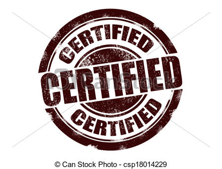 450x342 Certified Stamp. Vector Certified Stamp.