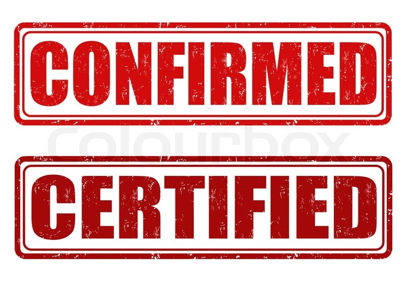 800x572 Confirmed And Certified Grunge Rubber Stamps On White, Vectosr