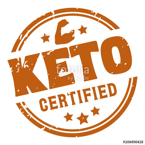 500x500 Ketogenic Diet Certified Rubber Stamp, Vector Stock Image And