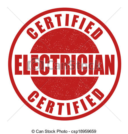 450x470 Certified Electrician Stamp. Certified Electrician Grunge Rubber