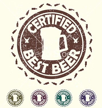 357x376 Free Beer Label Stamp With Text Certified Best Beer Vector Free