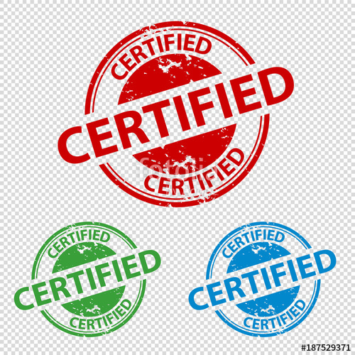 500x500 Rubber Stamp Seal Certified