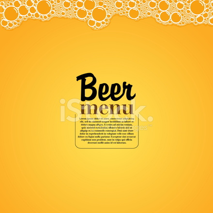 440x440 Cerveza Tema Elegante Restaurante Vector Illustration Stock